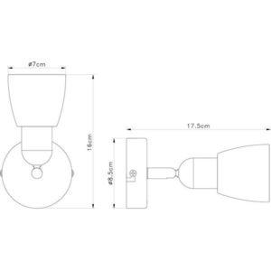 FE401-1 zidna spot lampa 1xE14 FORMA CORMEL