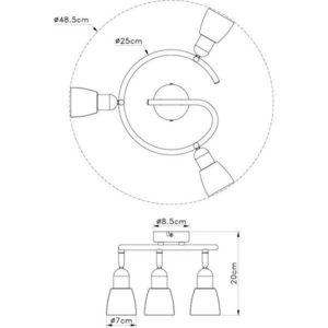 FE401-3G spot lampa 3xE14 FORMA CORMEL