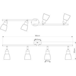 FE401-4 spot lampa 4xE14 FORMA CORMEL