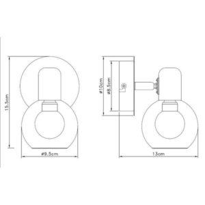 FE402-1 Zidna spot lampa 1xE14 FORMA CORMEL