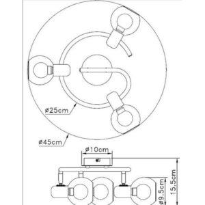 FE402-3G Spot lampa 3xE14 FORMA CORMEL