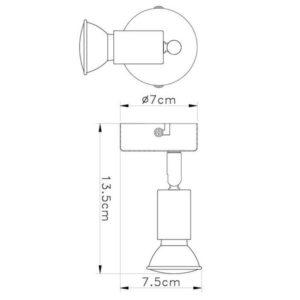 FG101-1 Zidna spot lampa 1xGU10 FORMA CORMEL