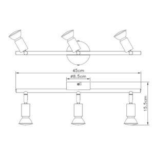 FG101-3 Spot lampa 3xGU10 FORMA CORMEL