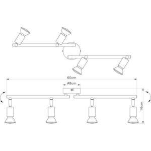 FG101-4 Spot lampa 4xGU10 FORMA CORMEL