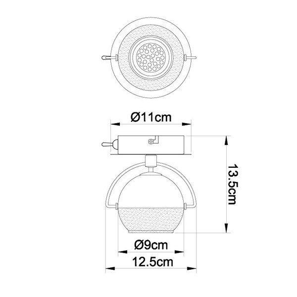 FG104-1 Zidna spot lampa 1xGU10