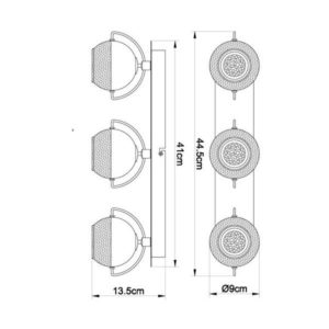 FG104-3 Spot lampa 3xGU10 FORMA CORMEL