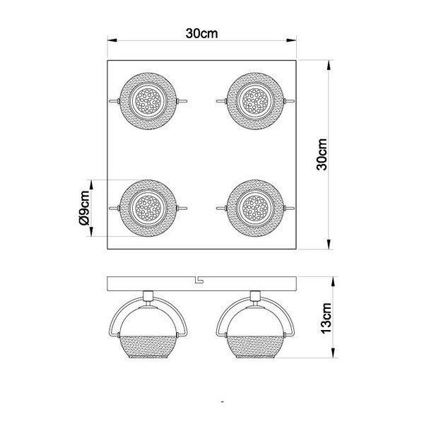 FG104-4K Spot lampa 4xGU10 FORMA CORMEL