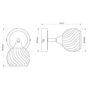 FG901-1 Zidna spot lampa 1xG9 FORMA CORMEL