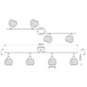 FG901-4 Spot lampa 4xG9 FORMA CORMEL