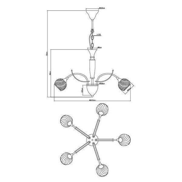 FG901-5L Luster 5xG9 FORMA CORMEL