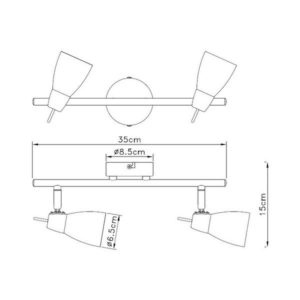 FG902-2 Spot lampa 2xG9 FORMA CORMEL
