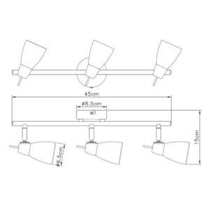 FG902-3 Spot lampa 3xG9 FORMA CORMEL