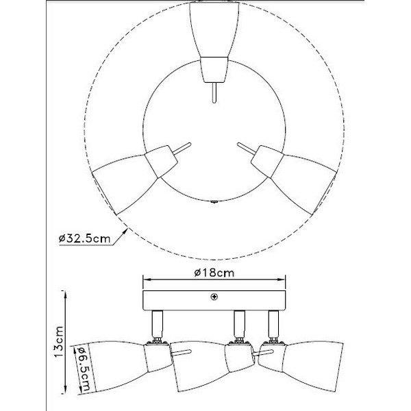 FG902-3R Spot lampa 3xG9 FORMA CORMEL