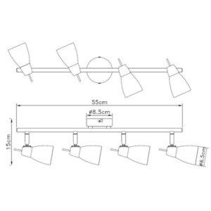 FG902-4 Spot lampa 4xG9 FORMA CORMEL