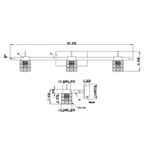 FG903-3 Spot lampa 3xG9 FORMA CORMEL