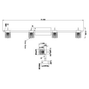 FG903-4 Spot lampa 4xG9 FORMA CORMEL