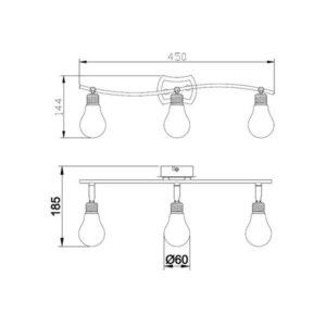 FG905-3 Spot lampa 3xG9 FORMA CORMEL