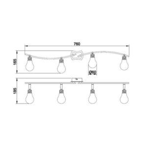 FG905-4 Spot lampa 4xG9 FORMA CORMEL