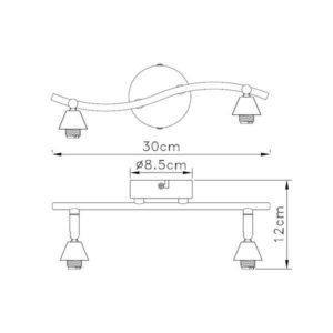 FG90X-2S Spot lampa 2xG9 FORMA CORMEL