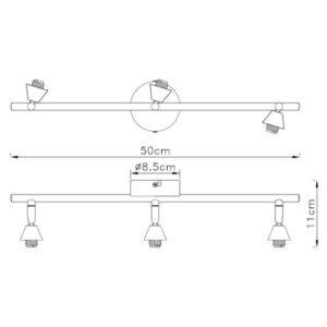 FG90X-3 Spot lampa 3xG9 FORMA CORMEL