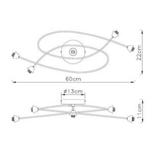 FG90X-5C Spot lampa 5xG9 FORMA CORMEL