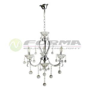 Luster kristal E14 3xMax. 40W ML1404-3 CH Cormel FORMA