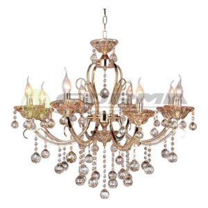 Luster kristal E14 8xMax. 40W ML1404-8-FGD+AMBER Cormel FORMA