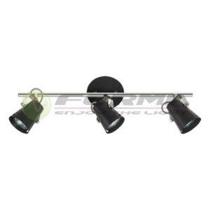 Spot lampa GU10 3xMax. 50W FG102-3 BK Cormel FORMA