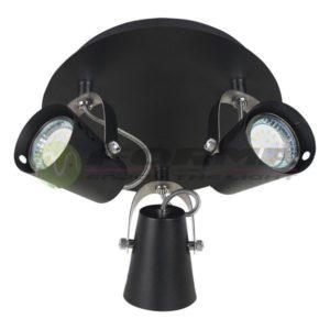 Spot lampa GU10 3xMax. 50W FG102-3C BK Cormel FORMA